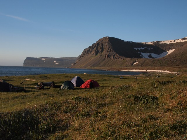 The campsite at Hlöðuvík