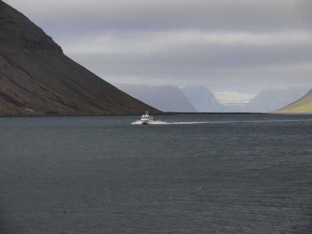 Out boat on the fjord